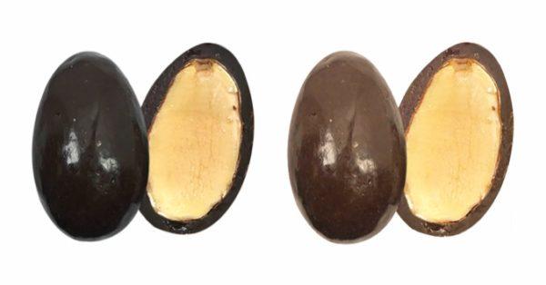 bonbons amandes au chocolat lait et noir confiserie adam