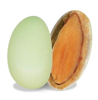 bonbon coeur amande au chocolat blanc citron bio