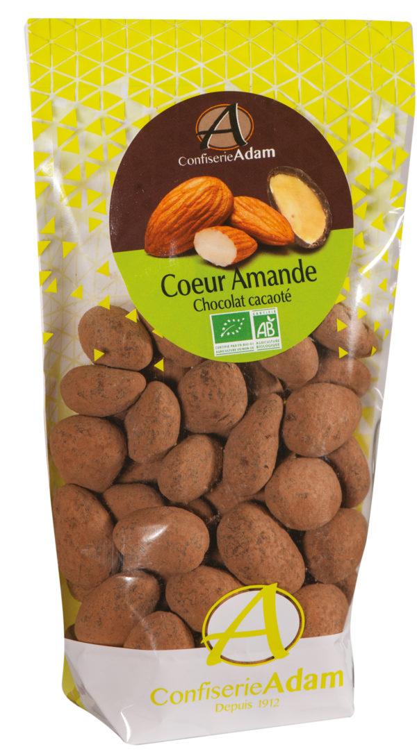 sachet dragées amande chocolat cacaoté bio confiserie adam