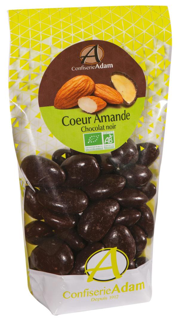 sachet dragées amande chocolat noir bio confiserie adam