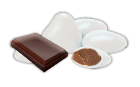 dragées forme mini coeurs au chocolat bio