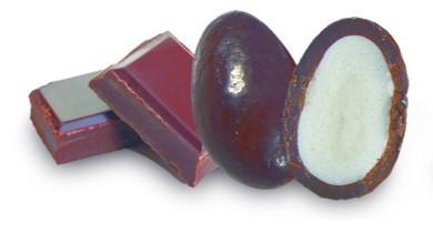 bonbon coeur guimauve au chocolat noir bio