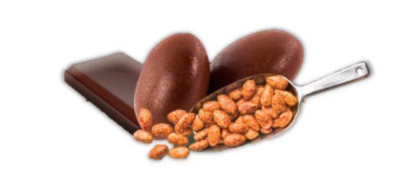 bonbons coeur feuilleté praliné au chocolat noir bio