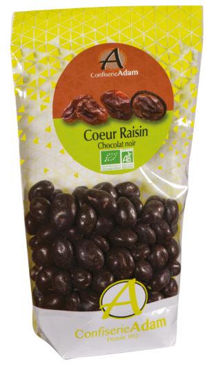 sachet bonbons coeur raison chocolat noir bio confiserie adam