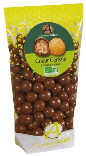 sachet bonbons céréale chocolat caramel bio confiserie adam