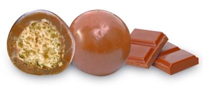 bonbon coeur céréale au chocolat au lait bio