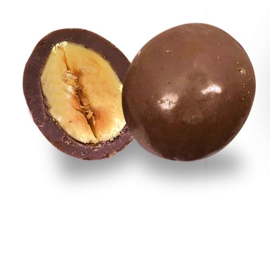 bonbon coeur noisette et chocolat au lait bio