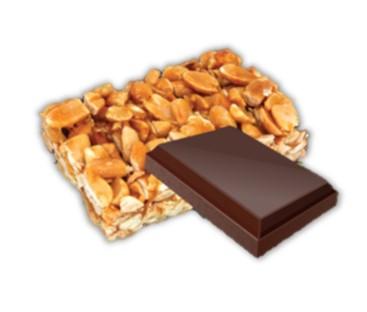 bonbon coeur nougatine au chocolat noir bio