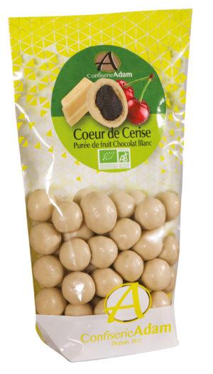 sachet bonbons pate de fruit cerise et chocolat blanc bio confiserie adam