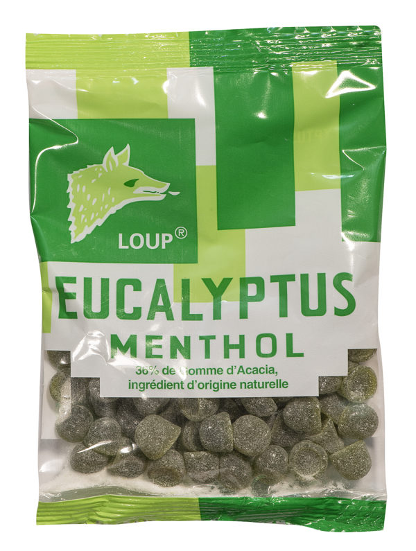 sachet de bonbons loup eucalyptus