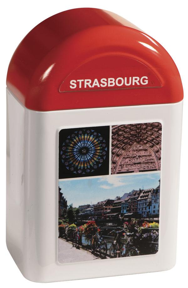 boîte cadeau borne Strasbourg fermée