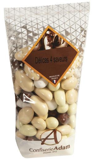 sachet bonbons délices 4 saveurs confiserie adam