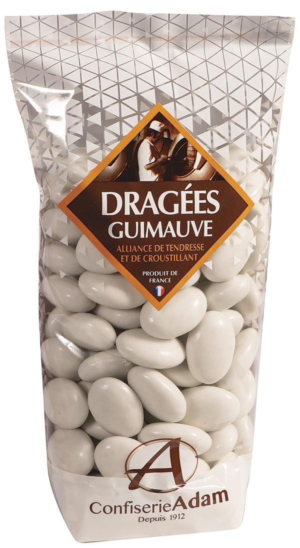 sachet dragées guimauve blanches confiserie adam