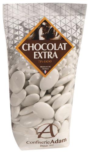 sachet dragées chocolat 73% cacao confiserie adam