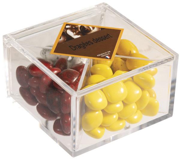 boîte cadeau de dragées dessert fermée
