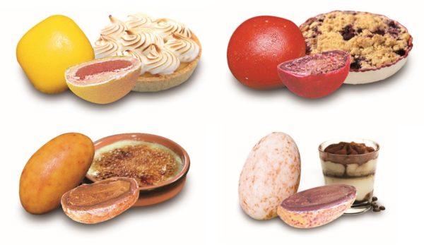 quatre variétés de dragées dessert