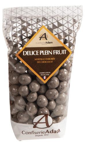 sachet de perles de fruit myrtille et chocolat confiserie adam
