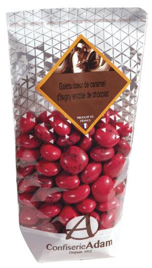 sachet galets roses caramel d'Isigny et chocolat confiserie adam