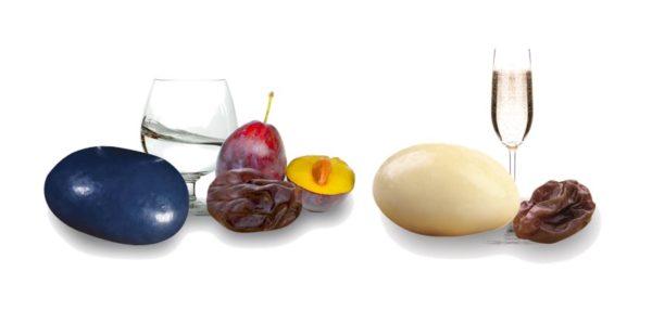 raisins macérés marc gewurztraminer quetsche et chocolat blanc