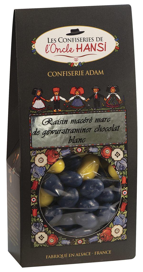 sachet raisins macérés chocolat blanc l'oncle Hansi