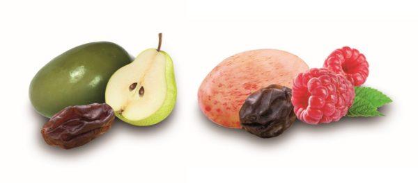 raisin macéré poire William et raisin macéré framboise chocolat blanc