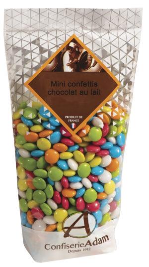 sachet minis confettis bonbons chocolat au lait confiserie adam
