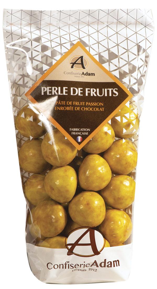 sachet de perles de fruit passion et chocolat confiserie adam