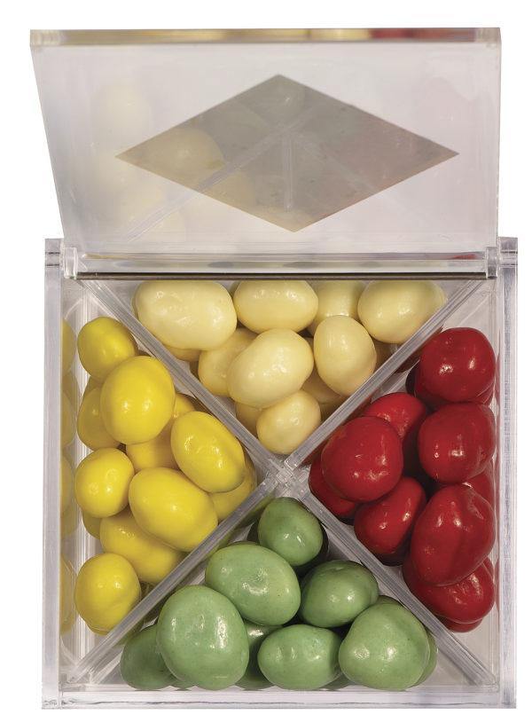 boîte cadeau de raisins macérés ouverte