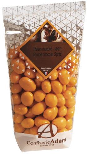 sachet de raisins macérés chocolat Spritz confiserie adam