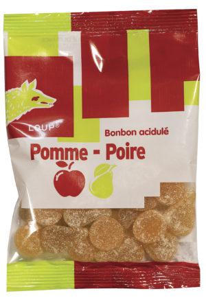 sachet de bonbons loup pomme poire