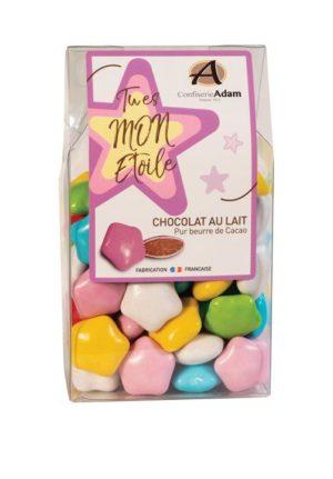 sachet étoiles au chocolat au lait confiserie adam